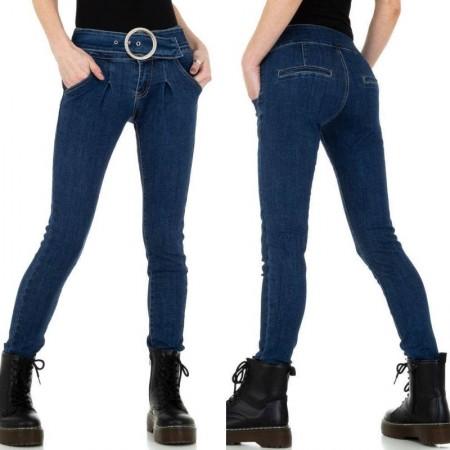 Jeans a vita alta elasticizzati con fibbia modello skinny effetto push up