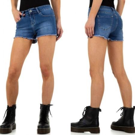 Shorts pantaloncini di jeans denim scuciti sui bordi scambiati effetto push up
