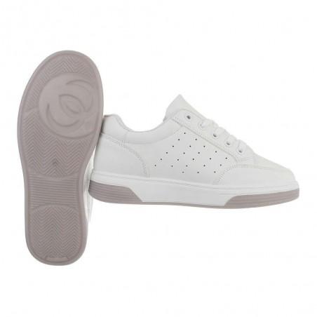 Sneakers ecopelle casual traspiranti alte con chiusura stringata