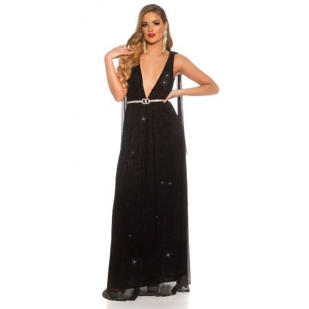 Abito da sera vestito donna elegante cerimonia capodanno oro glitter strass oro party