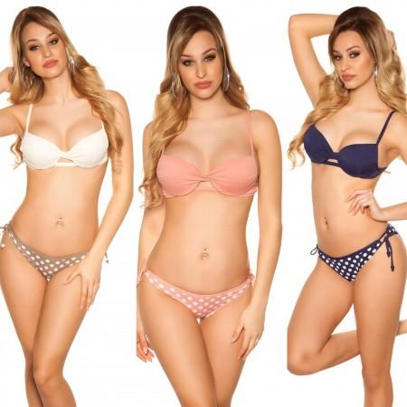Bikini costume moda mare due pezzi triangolo con spalline slip beachwear