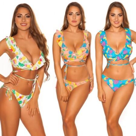 Bikini costume moda mare due pezzi triangolo con spalline slip beachwear HAWAII