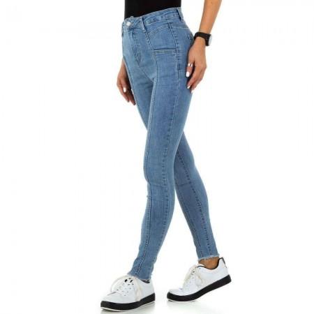 Jeans donna skinny a vita alta chiari