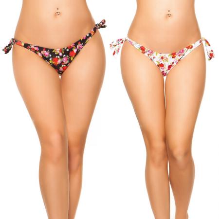 Bikini slip costume moda mare brasiliana triangolo con nodo regolabile nero