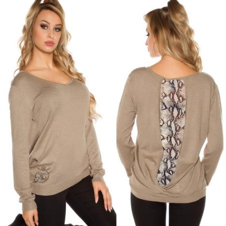 Maglione pullover maglia maglietta felpa inverno leopardato basic glamour