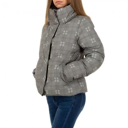 Piumino cappotto donna imbottito con collo alto invernale caldo fantasia a quadri