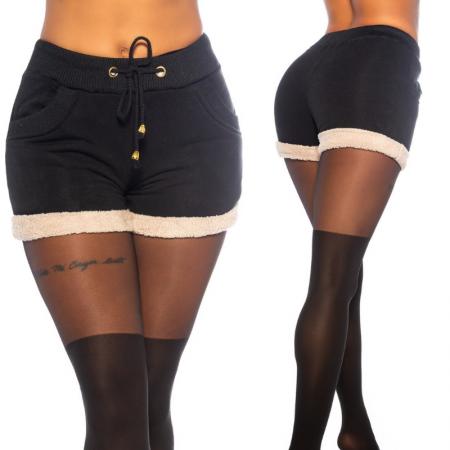 Pantalone pantacollant leggings pantaloncino shorts corto sportivo nero