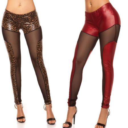 Leggings pantalone pantacollant in similpelle eco nero comfy nude leggins
