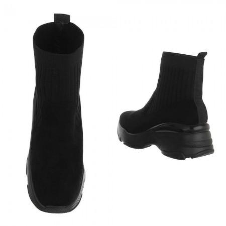 Sneakers a stivaletto elasticizzate a calzino in tinta unita con zeppa alta comoda