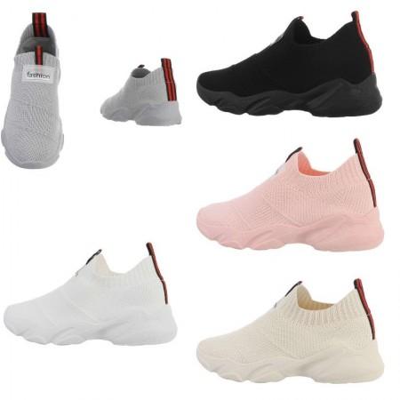 Sneakers sportive alte a calzino in tela traspirante da jogging senza lacci