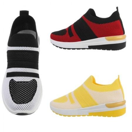 Sneakers in maglia bicolore elasticizzate sportive senza lacci da ginnastica