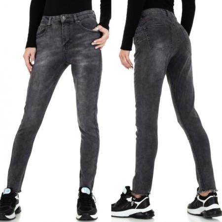 Jeans scuri donna stinti skinny a vita alta con effetto push up