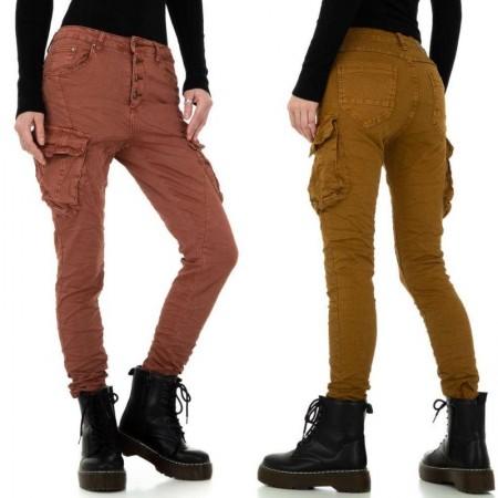 Jeans pantaloni a vita alta denim con tasche sulle gambe modello skinny e push up