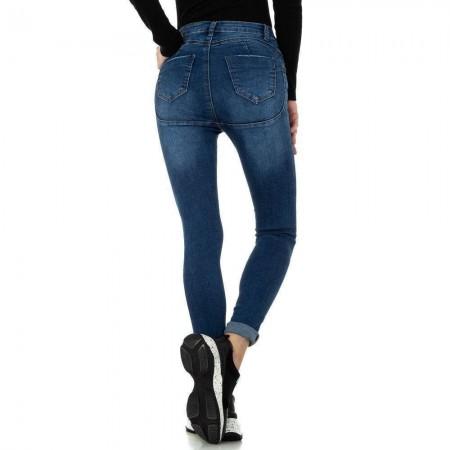 Jeans push up elasticizzati skinny effetto stinto vita alta aderenti con risvoltino